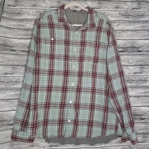 Toad & Co Dually Plaid Long Sleeve Button Up Top